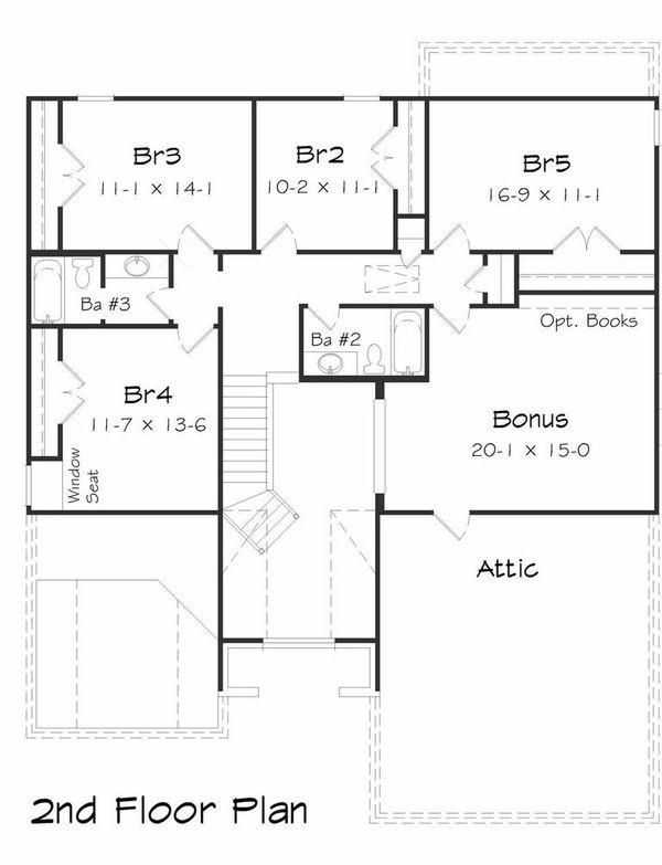 Floor Plan - Upper Floor Plan Plan #329-369