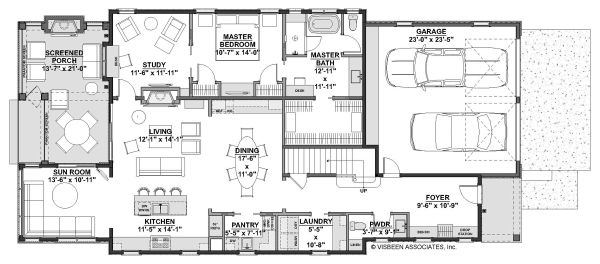 Farmhouse Floor Plan - Main Floor Plan Plan #928-344