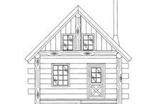 Log Exterior - Front Elevation Plan #117-828