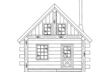 House Plan Design - Log Exterior - Front Elevation Plan #117-828