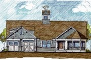 Colonial Style House Plan - 4 Beds 3.5 Baths 3692 Sq/Ft Plan #440-4 Exterior - Front Elevation