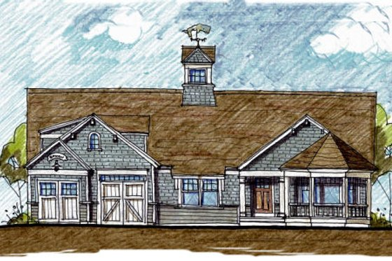Colonial Exterior - Front Elevation Plan #440-4