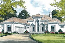 Home Plan - Mediterranean Exterior - Front Elevation Plan #453-313