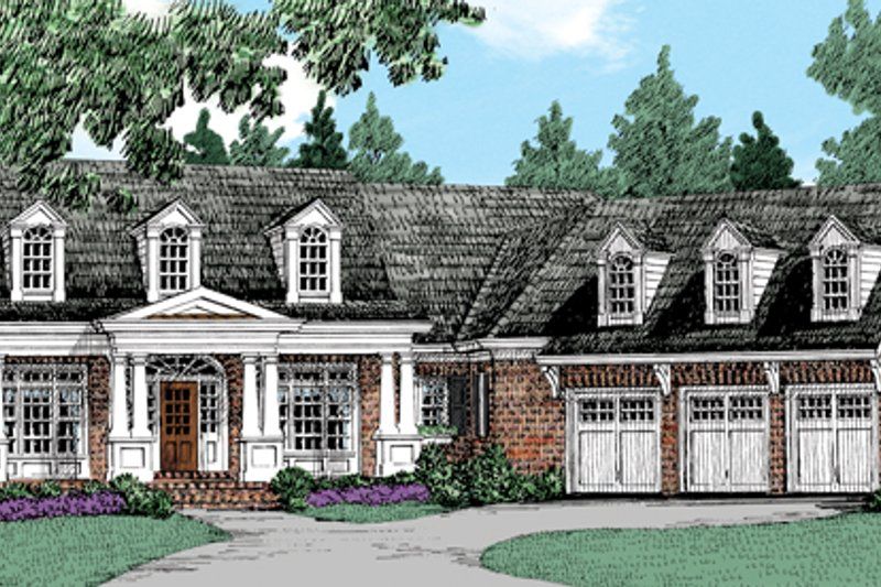 Traditional Exterior - Front Elevation Plan #927-958 - Houseplans.com