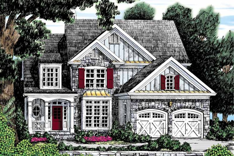 Country Exterior - Front Elevation Plan #927-892