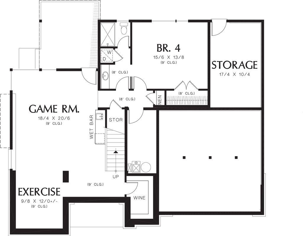prairie style house plan  ft