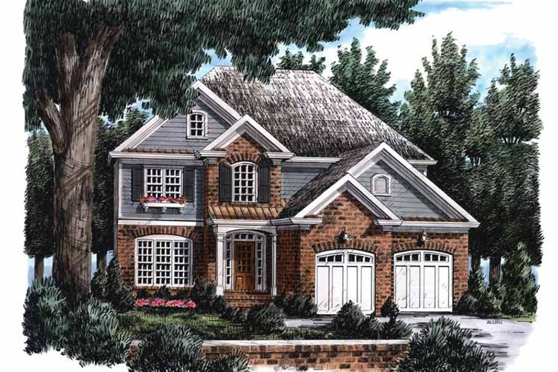 Colonial Exterior - Front Elevation Plan #927-703 - Houseplans.com