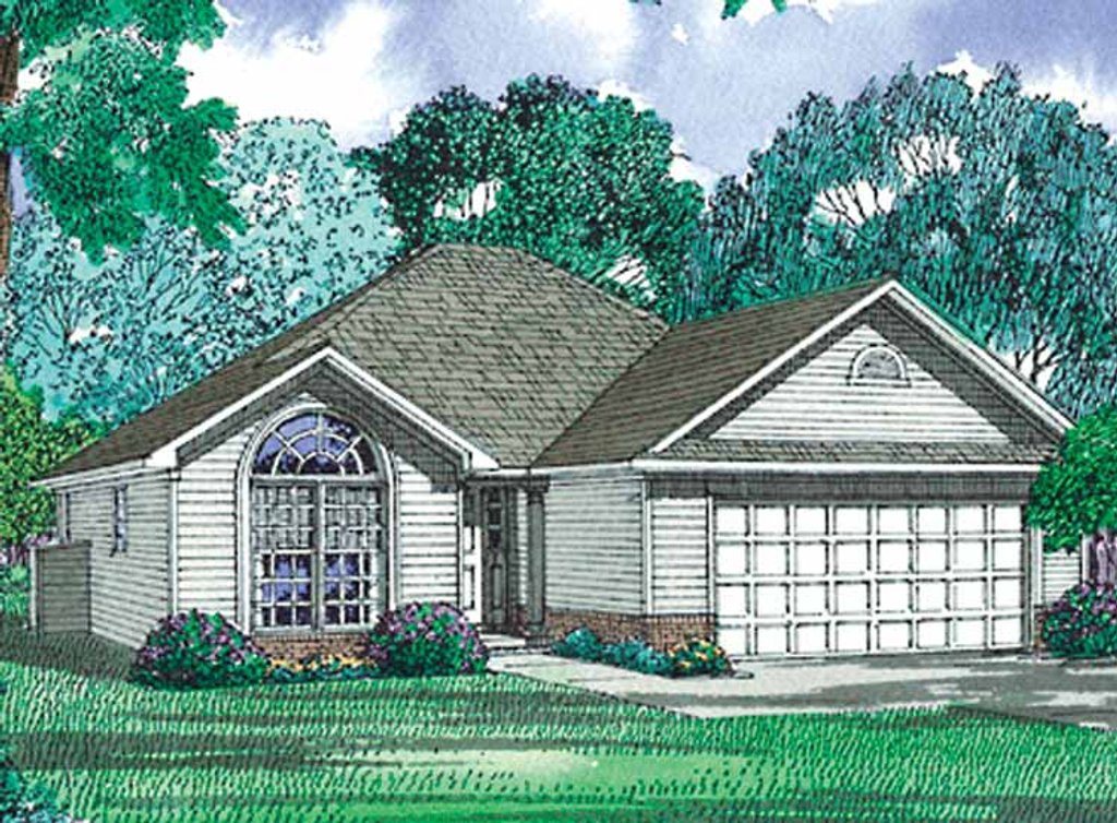 Ranch style house plan 3 beds 2 baths 1355 sq ft plan for Www eplans com