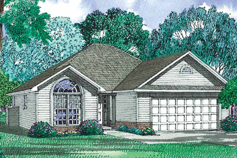 Ranch Exterior - Front Elevation Plan #17-2975 - Houseplans.com