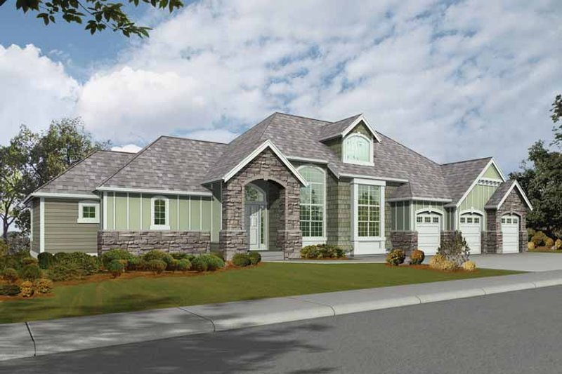 Craftsman Exterior - Front Elevation Plan #132-274