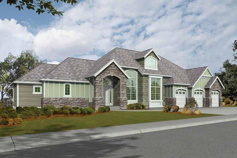 Dream House Plan - Craftsman Exterior - Front Elevation Plan #132-274
