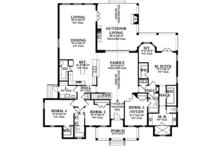 Country Floor Plan - Main Floor Plan Plan #1058-114