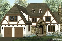 Home Plan - European Exterior - Front Elevation Plan #453-626
