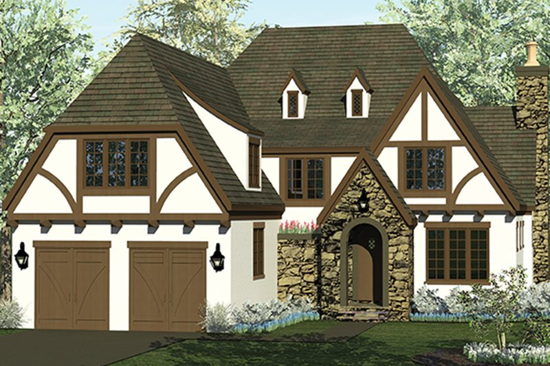 European Exterior - Front Elevation Plan #453-626