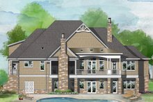 Home Plan - European Exterior - Rear Elevation Plan #929-1037