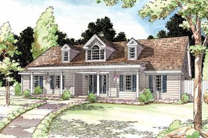 Architectural House Design - Country Exterior - Front Elevation Plan #1029-49