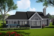 Ranch Style House Plan - 3 Beds 2 Baths 2913 Sq/Ft Plan #70-1468 Exterior - Rear Elevation