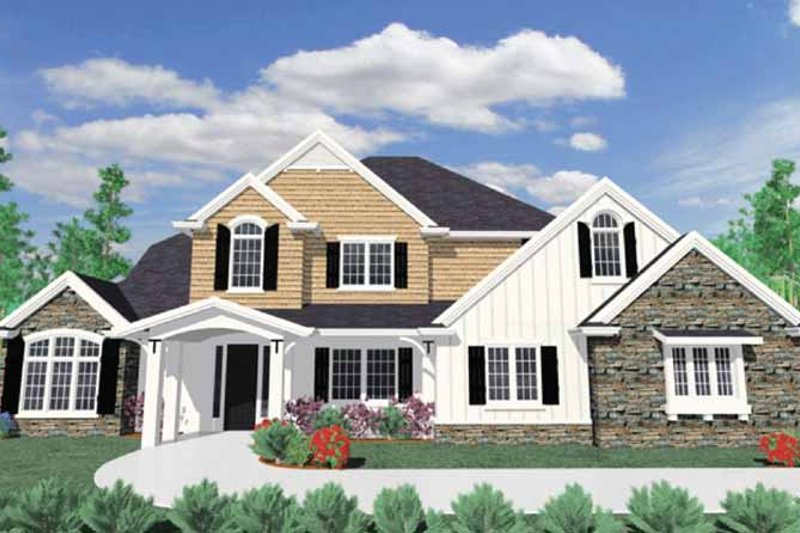 Traditional Exterior - Front Elevation Plan #509-373