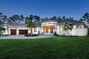 Dream House Plan - Mediterranean Exterior - Front Elevation Plan #930-473