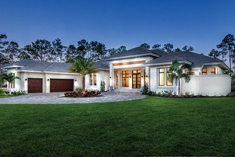 Architectural House Design - Mediterranean Exterior - Front Elevation Plan #930-473