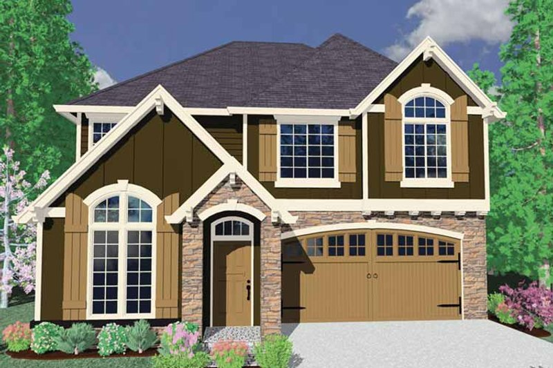 Craftsman Exterior - Front Elevation Plan #509-430 - Houseplans.com