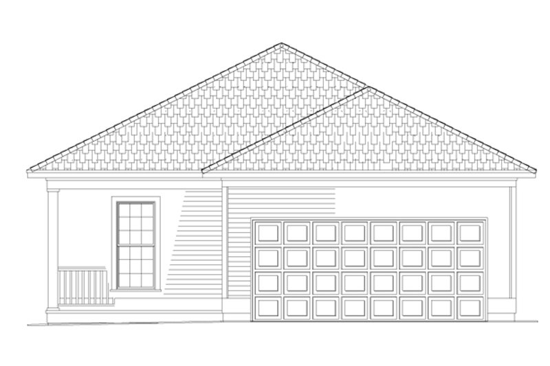 Country Exterior - Rear Elevation Plan #17-2970 - Houseplans.com