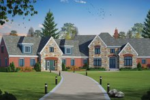 Dream House Plan - European Exterior - Front Elevation Plan #20-2379