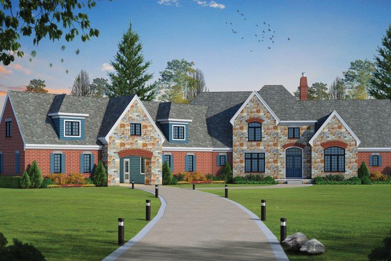 House Plan Design - European Exterior - Front Elevation Plan #20-2379