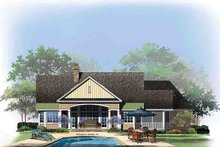 Architectural House Design - Craftsman Exterior - Rear Elevation Plan #929-973