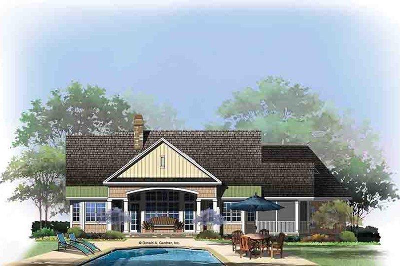 Craftsman Exterior - Rear Elevation Plan #929-973 - Houseplans.com