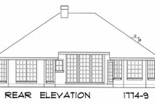 European Exterior - Rear Elevation Plan #40-187