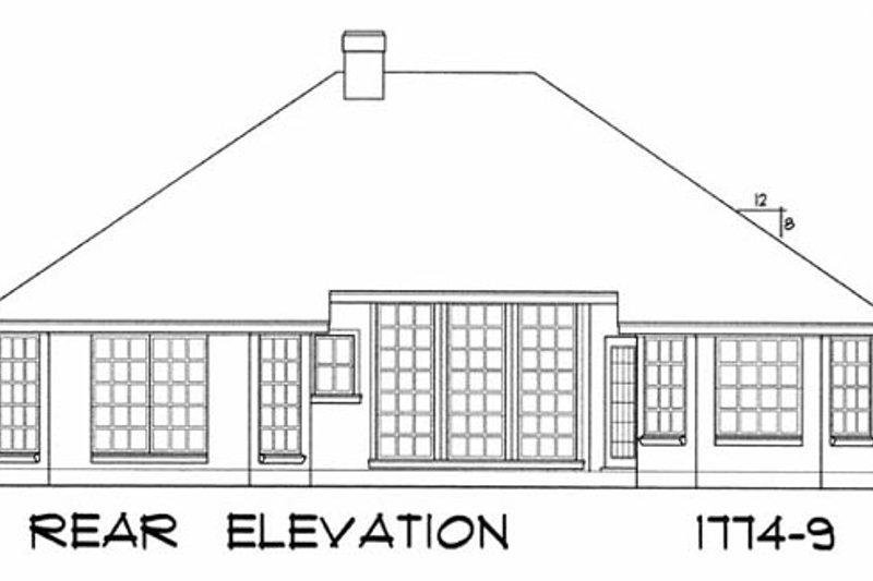 European Exterior - Rear Elevation Plan #40-187 - Houseplans.com