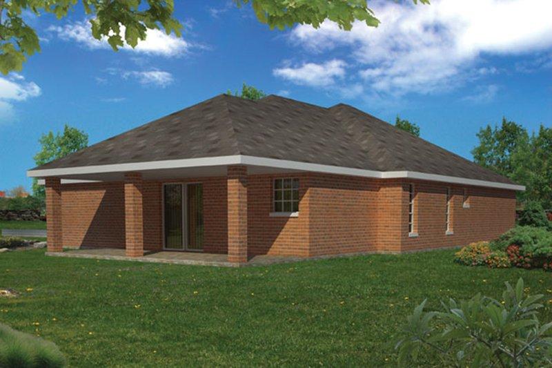 Ranch Exterior - Rear Elevation Plan #1061-11 - Houseplans.com
