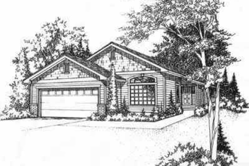 Bungalow Style House Plan - 2 Beds 2 Baths 1199 Sq/Ft Plan #78-188 Exterior - Front Elevation