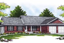 Architectural House Design - Ranch Exterior - Front Elevation Plan #70-1356