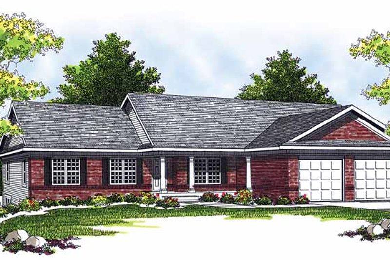 Ranch Exterior - Front Elevation Plan #70-1356 - Houseplans.com