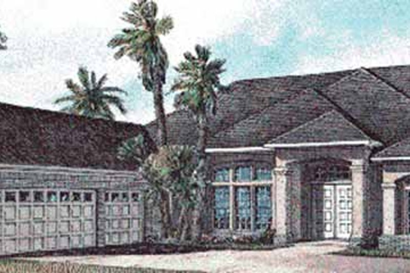 House Plan Design - Mediterranean Exterior - Front Elevation Plan #17-3035