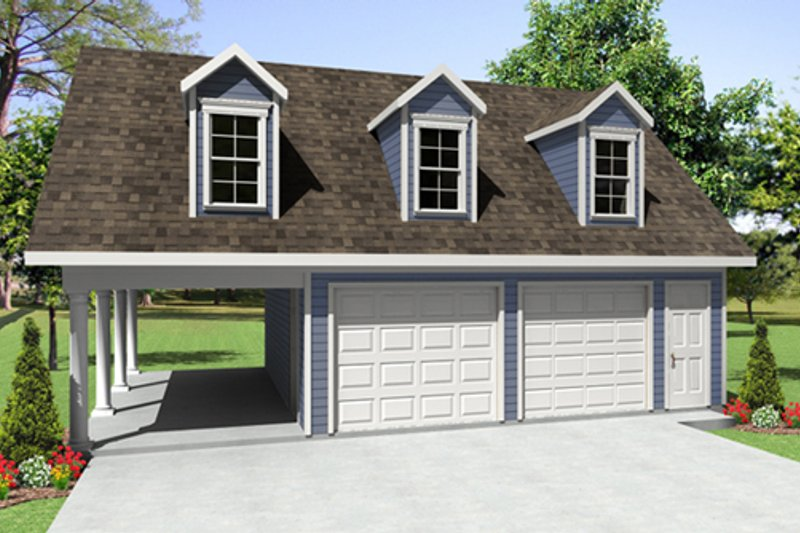 Traditional Exterior - Front Elevation Plan #21-337