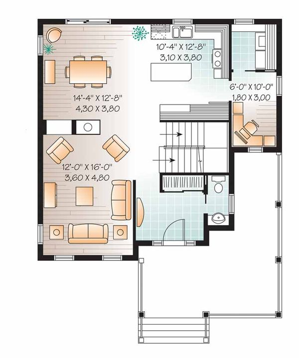 Country Floor Plan - Main Floor Plan Plan #23-2549
