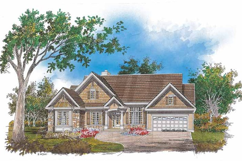 Ranch Exterior - Front Elevation Plan #929-654