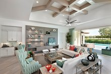 Mediterranean Interior - Family Room Plan #1017-156