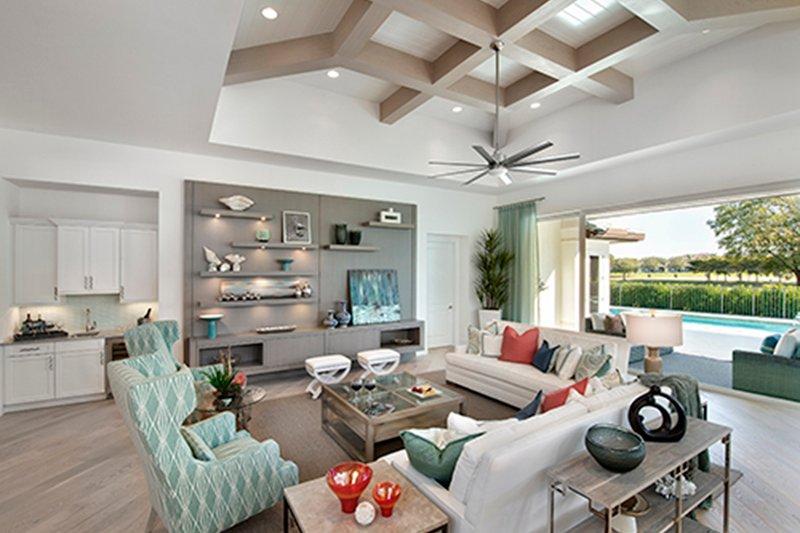 Mediterranean Interior - Family Room Plan #1017-156 - Houseplans.com