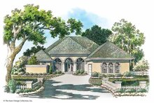 House Plan Design - Mediterranean Exterior - Front Elevation Plan #930-342