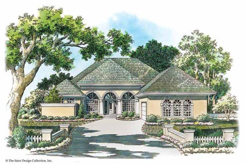 Architectural House Design - Mediterranean Exterior - Front Elevation Plan #930-342