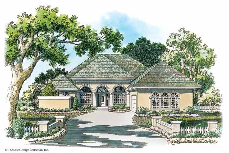 Mediterranean Exterior - Front Elevation Plan #930-342