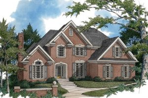 European Exterior - Front Elevation Plan #56-204