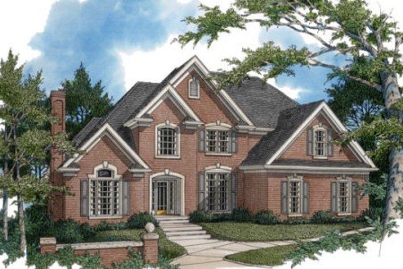 Dream House Plan - European Exterior - Front Elevation Plan #56-204