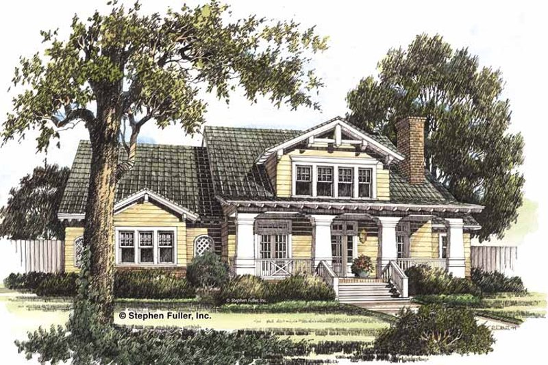 Craftsman Exterior - Front Elevation Plan #429-191 - Houseplans.com