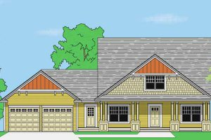 Prairie Exterior - Front Elevation Plan #981-11