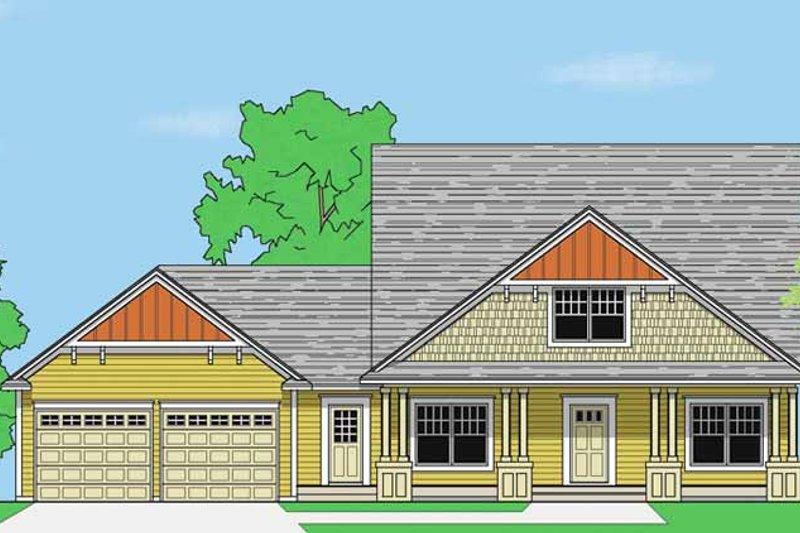 Prairie Exterior - Front Elevation Plan #981-11
